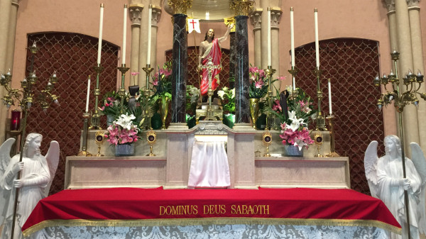 St. Rose Altar on Easter 2018